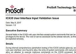 Icx35 User Interface Input Validation Issue Security Bulletin