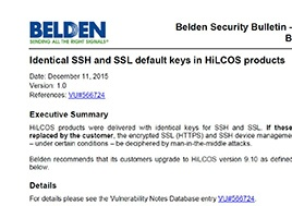 Identifcal Ssh And Ssl Default Keys In Hilcos Products Security Bulletin