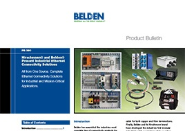 Industrial Ethernet Connectivity Solutions Product Bulletin