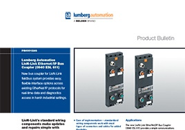 Lion Link Ethernet Ip Bus Coupler Product Bulletin