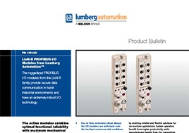 LioN-R Profibus I O Modules Product Bulletin