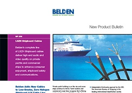 Low Smoke Zero Halogen Shipboard Cables New Product Bulletin