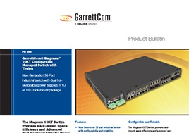 Magnum 10Kt Configurable Managed Switch With Timing Product Bulletin