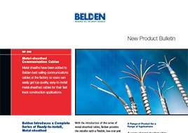 Metal Sheathed Communication Cables New Product Bulletin