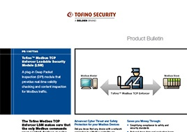 Modbus TCP Enforcer Loadable Security Module (LSM) Product Bulletin