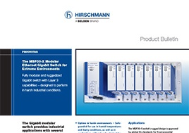 MSP30-X Modular Ethernet Gigabit Switch Product Bulletin