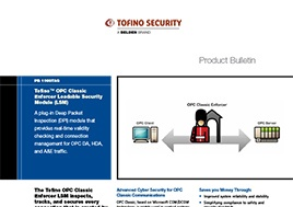 OPC Classic Enforcer Loadable Security Module (LSM) Product Bulletin