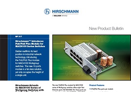 PoE/PoE Plus Module for MACH100 Series Switches New Product Bulletin