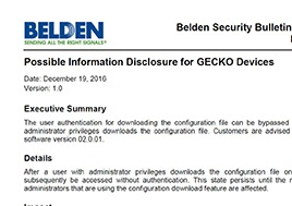 Possible Information Disclosure For Gecko Devices Security Bulletin