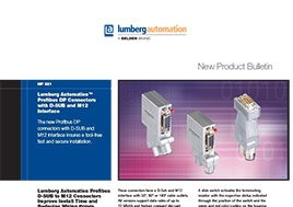 Profibus Dp Connectors With D Sub And M12 Interface New Product Bulletin
