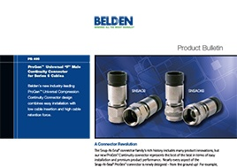 Progen Universal F Male Continuity Connector For Series 6 Cables Product Bulletin