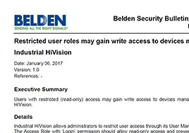 Restricted User Roles May Gain Write Access Security Bulletin