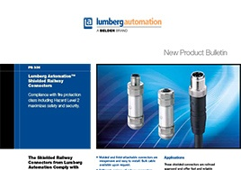 Shielded Railway Connectors New Product Bulletin