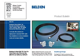 Tc Cat 5E Cord Sets With Ul 1277 Listed Type Tc 600V Industrial Ethernet Cable Product Bulletin
