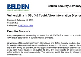 Vulnerability In Ssl 3.0 Could Allow Information Disclosure Product Bulletin