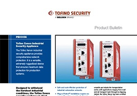 Xenon Industrial Security Appliance Product Bulletin