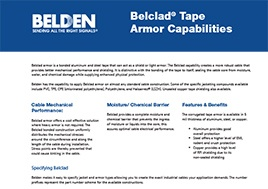 Belclad Tape Armor Capabilities Bulletin