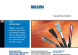 Csa Tray Cables Capabilities Bulletin