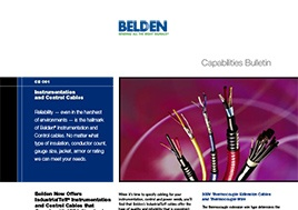 Instrumentation And Control Cables Capabilities Bulletin