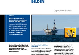 Marinetuff Certified Belden Instrumentation Control And Vfd Cables Capabilities Bulletin