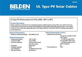Ul Type Pv Solar Cables Capabilities Bulletin