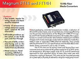 Magnum Ft14 And Ft14H 10 Mb Fiber Media Converters Data Sheet