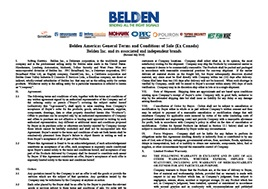 Belden Terms And Conditions Americas July 2016