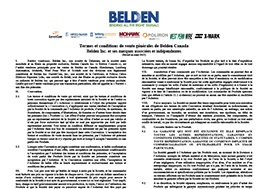 Belden Terms And Conditions Canada French